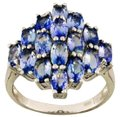 Tanzanite Genuine Tanzanite Sterling Silver Cluster Ring, 3.75cts Image 0