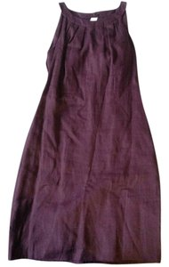 Ann Taylor LOFT short dress Purple Peek-a-boo Linen Summer Breathable on Tradesy