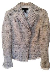 Anne Carson White with black/metallic stitching Blazer