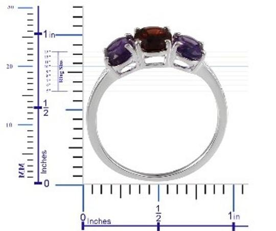 Other Genuine Mozambique Garnet and Amethyst Sterling Silver Ring, 3.10cts Image 3