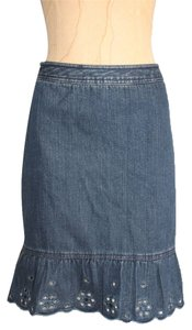 Ann Taylor LOFT Blue 6 Mini Skirt Denim