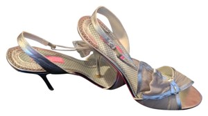 Betsey Johnson Metallic Sheen Fabric Bow Silver Formal