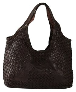 Bruno Magli Woven Leather Designer Shoulder Bag