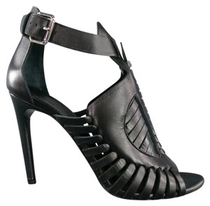 Proenza Schouler Strappy Woven Booties Runway Brand New Black Sandals