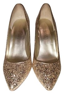 Ivanka Trump Keydena Pump Sparkle Gold Formal