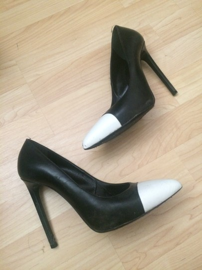 Saint Laurent Black White Pumps Image 4