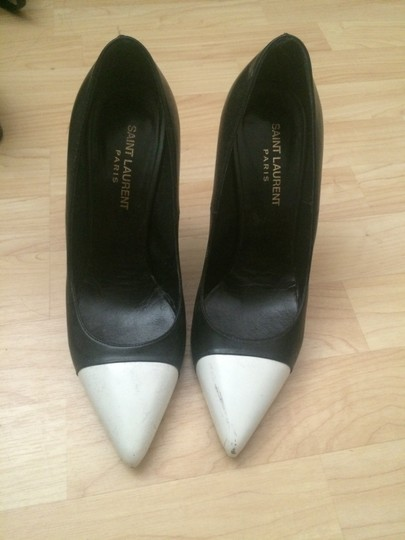 Saint Laurent Black White Pumps Image 5