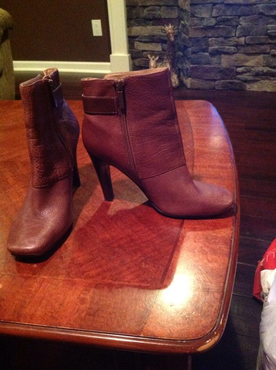 Nine West Leather Brown Boots Image 2