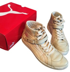 Puma The Key High Top Sandshell Beige - White Athletic