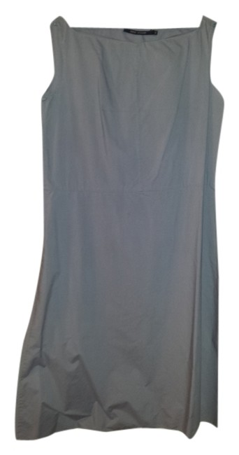 Preload https://img-static.tradesy.com/item/8087404/grey-blue-fabulous-modern-line-to-this-unique-mid-length-formal-dress-size-10-m-0-3-650-650.jpg