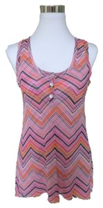 Sweet Pea by Stacy Frati Chevron Smock Top Pink