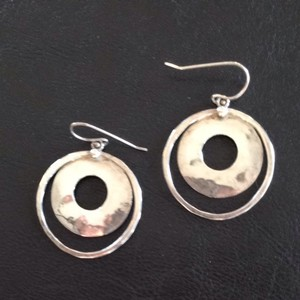 Silpada Silpada Hammered Sterling Silver Earrings on French wires