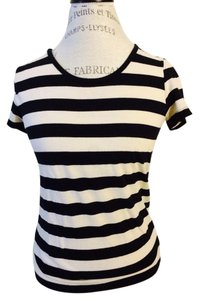 Mango T Shirt Black And White