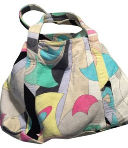 Emilio Pucci Brand New Beach Luxury Tote in Multi