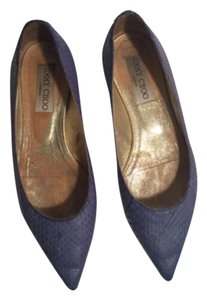 Jimmy Choo Blue Flats