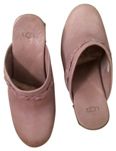 UGG Australia Leather Light Grey Mules
