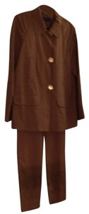 Jones New York Three Piece Pant Suit. Includes Pants, Pea Coat And Matching Blouse.