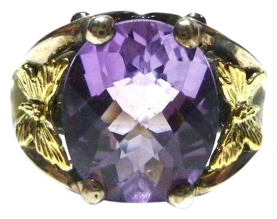 Preload https://img-static.tradesy.com/item/8093131/ann-king-silver-sterling-18k-gold-butterfly-pearl-and-amethyst-womens-size-6-ring-0-4-540-540.jpg