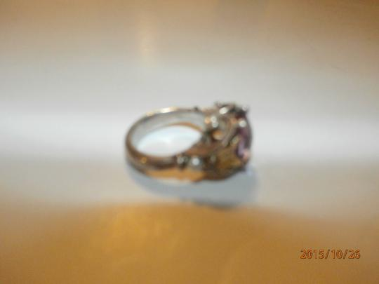 Ann King ANN KING STERLING SILVER 18K GOLD BUTTERFLY PEARL & AMETHYST WOMENS RING SIZE 6 Image 6