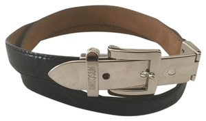 Moschino Moschino Black Patent Leather Belt 36