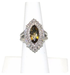 Judith Ripka udith Ripka Sterling Silver Champagne Quartz Marquise Ring SIZE 6