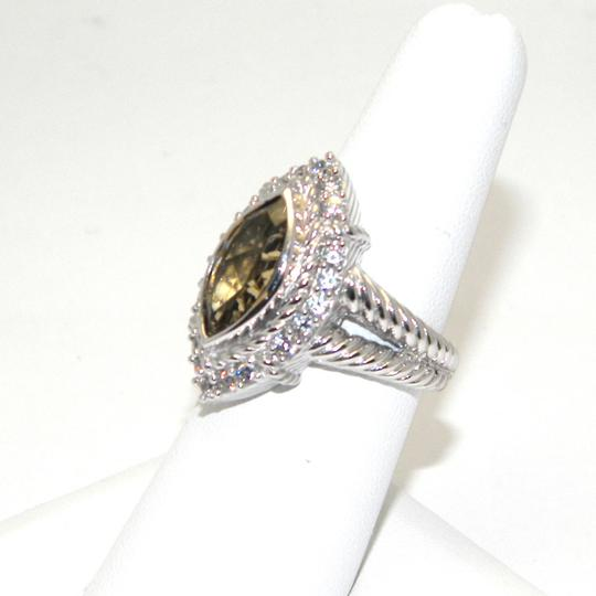 Judith Ripka udith Ripka Sterling Silver Champagne Quartz Marquise Ring SIZE 6 Image 1