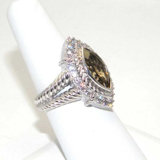 Judith Ripka udith Ripka Sterling Silver Champagne Quartz Marquise Ring SIZE 6 Image 2