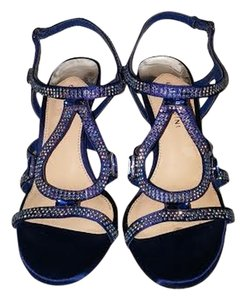Gianni Bini Embellished Sparkle Party Blue Sandals