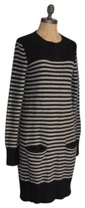 H&M short dress BLACK AND BEIGE Striped Sweater on Tradesy