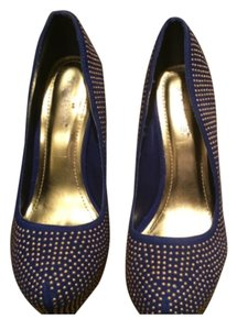 ShoeDazzle Royal blue Platforms