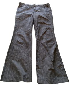 Gap Vertical Stripe Flare Pants Gray Pinstripe