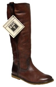 Frye Celia X Leather Boot Walnut Boots
