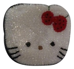 Hello Kitty New Hello kitty beaded zip up wallet coin purse