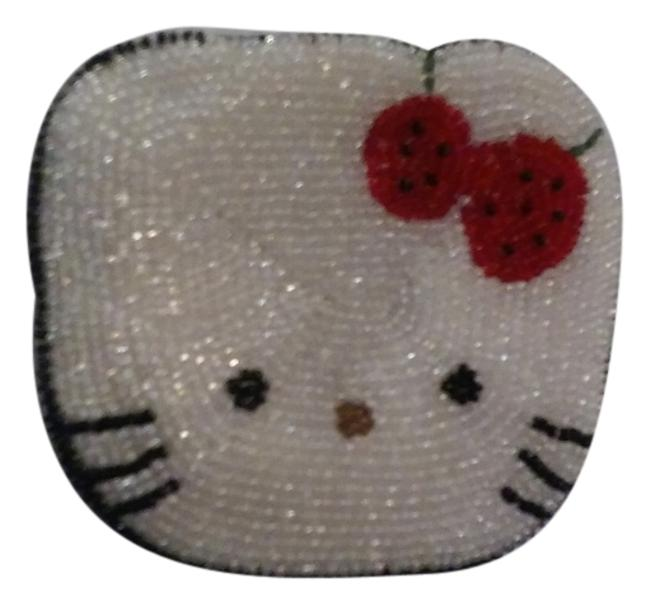 Item - White Red Black New Beaded Zip Up Coin Purse Wallet
