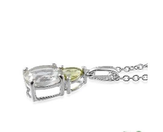 Other Genuine Montezuma Prasiolite (Green Amethyst) and Hebei Peridot Pendant with Chain, 2.350 cts. Image 2
