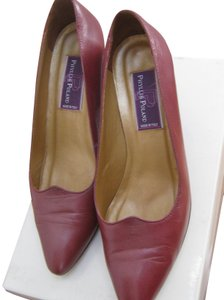 Phyllis Poland Burgundy Pumps