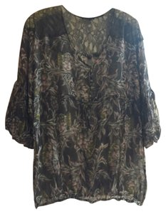 BCBGMAXAZRIA Top Brown multi