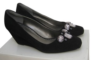 Jessica Simpson Black Suede Wedges