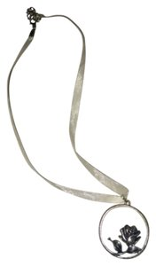 Other Silvery Rose Necklace