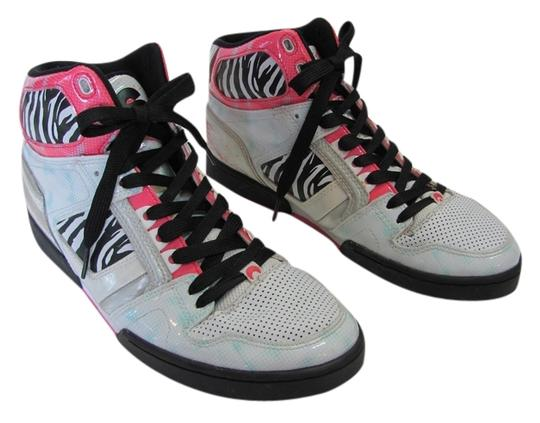 Osiris Size 9.00 M Good Condition White, Black, Pink, Silver Athletic Image 0
