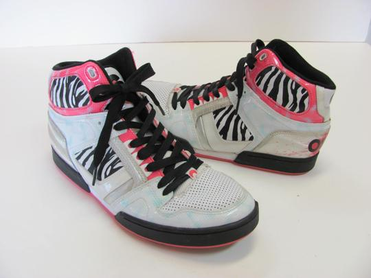 Osiris Size 9.00 M Good Condition White, Black, Pink, Silver Athletic Image 1