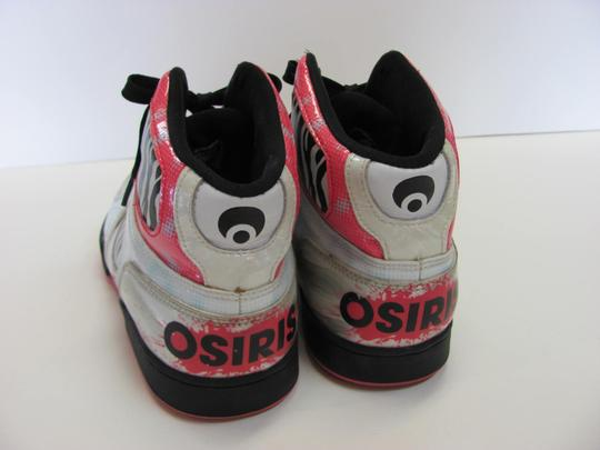 Osiris Size 9.00 M Good Condition White, Black, Pink, Silver Athletic Image 3