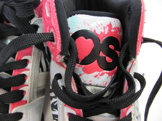 Osiris Size 9.00 M Good Condition White, Black, Pink, Silver Athletic Image 4