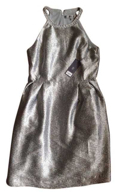 Item - Silver Gray Above Knee Cocktail Dress Size 10 (M)