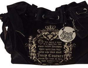 Juicy Couture Tote in Black/Cream