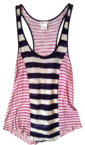 Cooperative Purple Navy Top Purple/navy striped