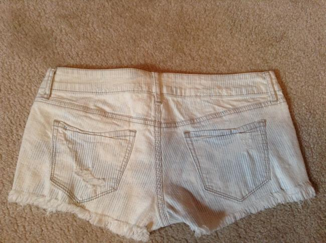 Roxy Distressed Mini/Short Shorts White/light blue striped