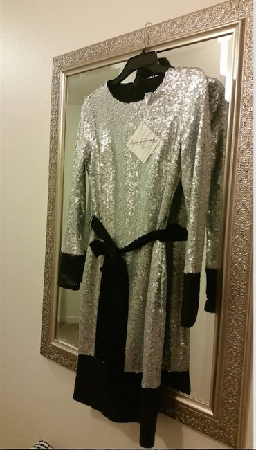 Mark & James by Badgley Mischka Sequin Mini Party Evening Sparkle Dress Image 4