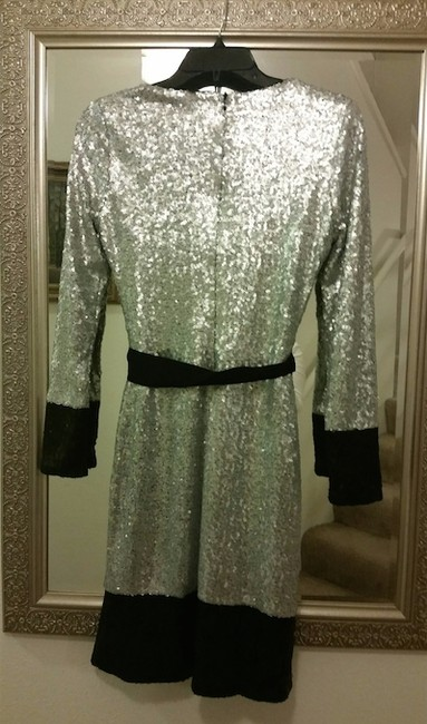 Mark & James by Badgley Mischka Sequin Mini Party Evening Sparkle Dress Image 5