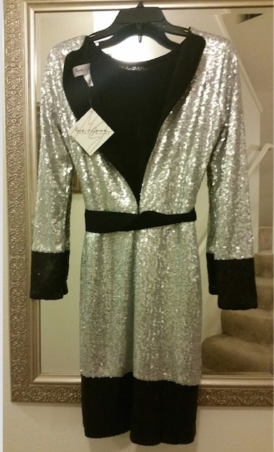 Mark & James by Badgley Mischka Sequin Mini Party Evening Sparkle Dress Image 6